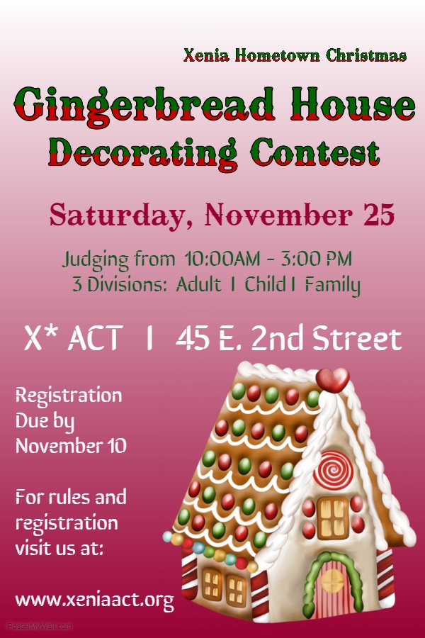 XACT Gingerbread house contest 2017